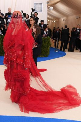 Katy Perry in a custom Maison Margiela gown by John Galliano