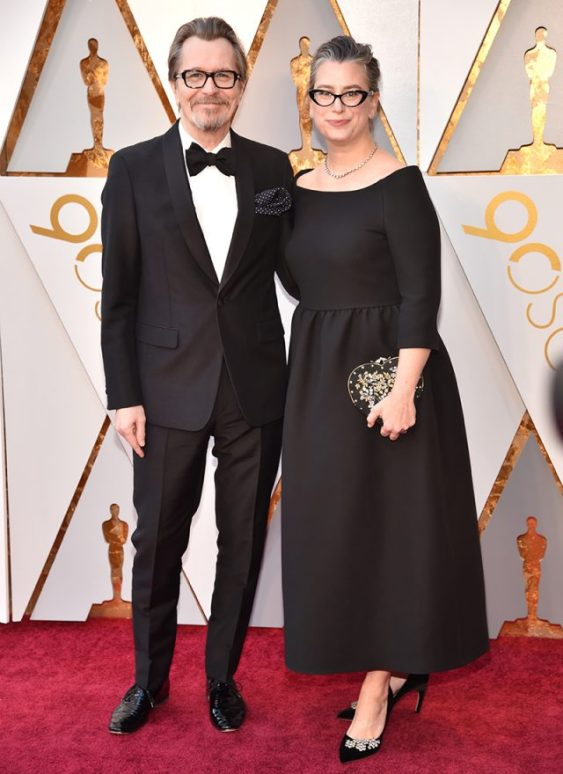 Gary Oldman y Gisele Schmid.